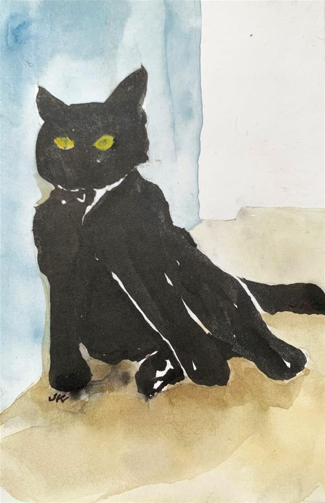 """Cat 7"" original fine art by Jean Krueger"