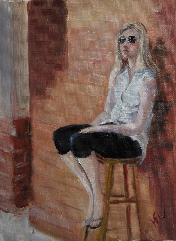 """""""Just Sittin'"""" original fine art by H.F. Wallen"""