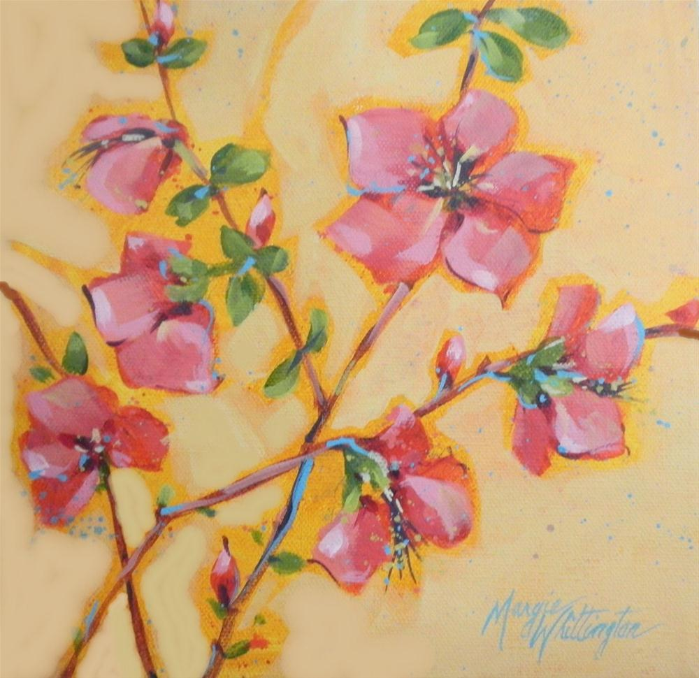 """Flowering Quince"" original fine art by Margie Whittington"