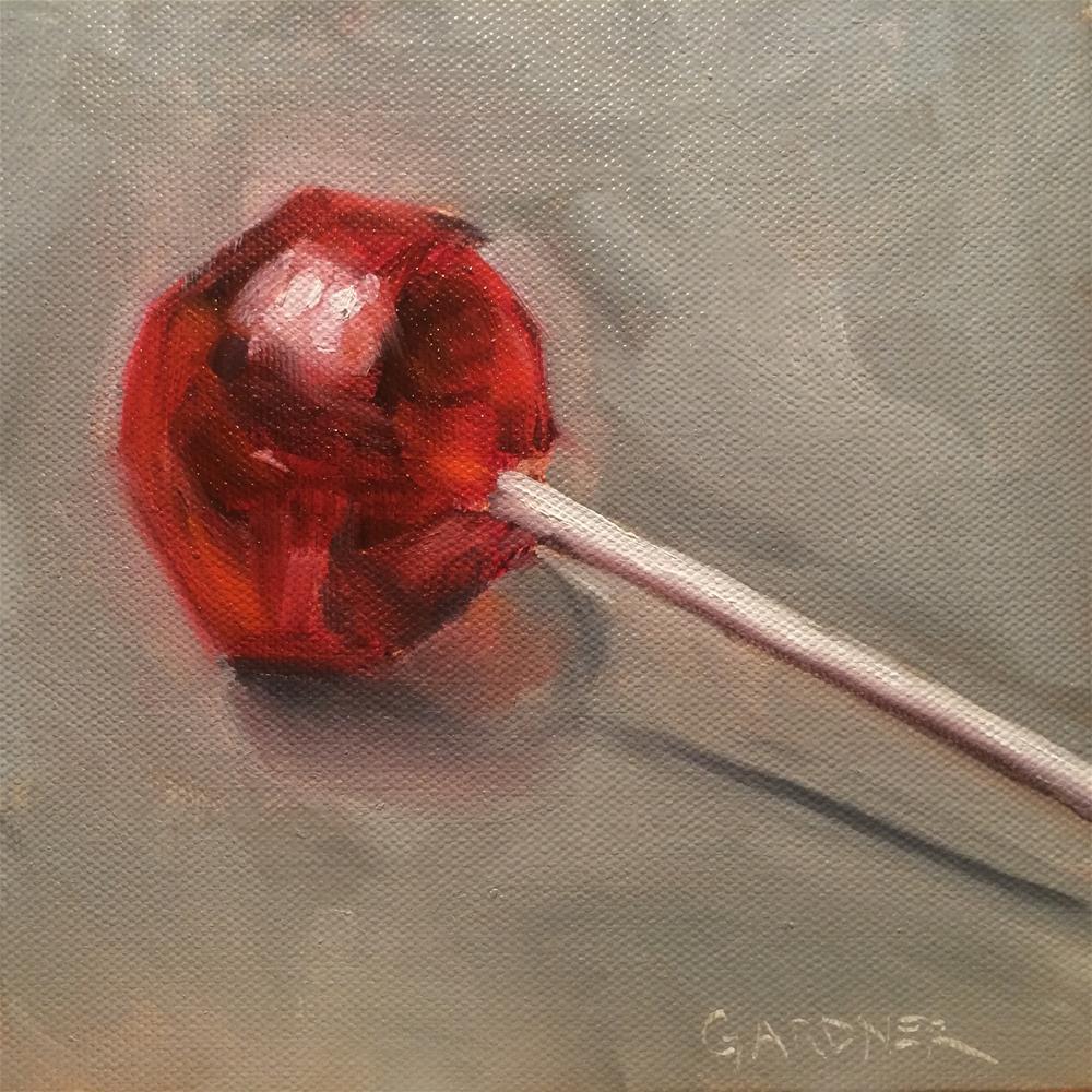 """""""Cherry Pop"""" original fine art by Nikki Gardner"""