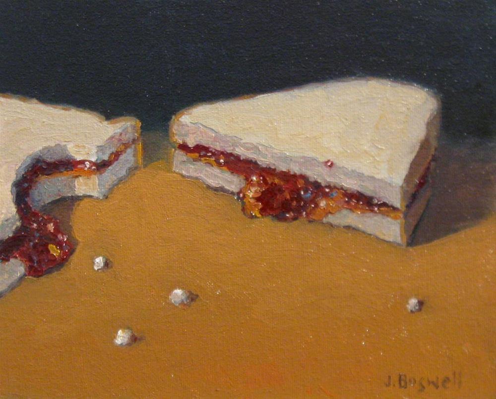 """PB and J with Crumbs"" original fine art by Jennifer Boswell"