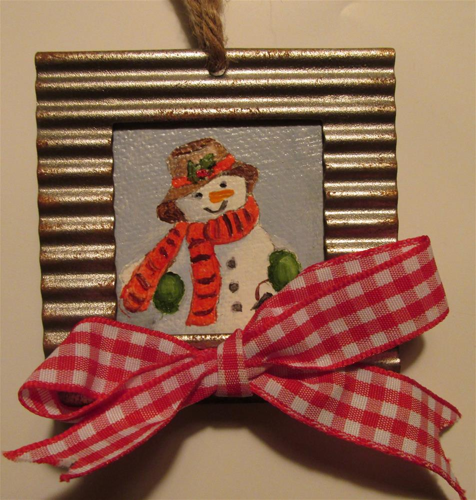 """Frosty Ornament"" original fine art by Ruth Stewart"
