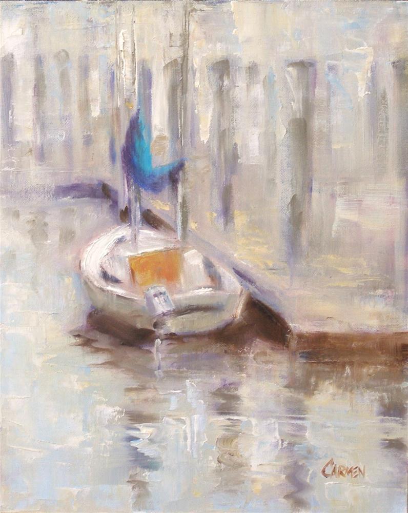 """""""Dream Boat, 8x10 Oil on Canvas Board"""" original fine art by Carmen Beecher"""