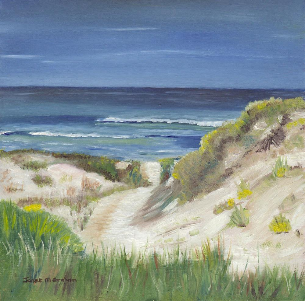 """Sand Dune"" original fine art by Janet Graham"