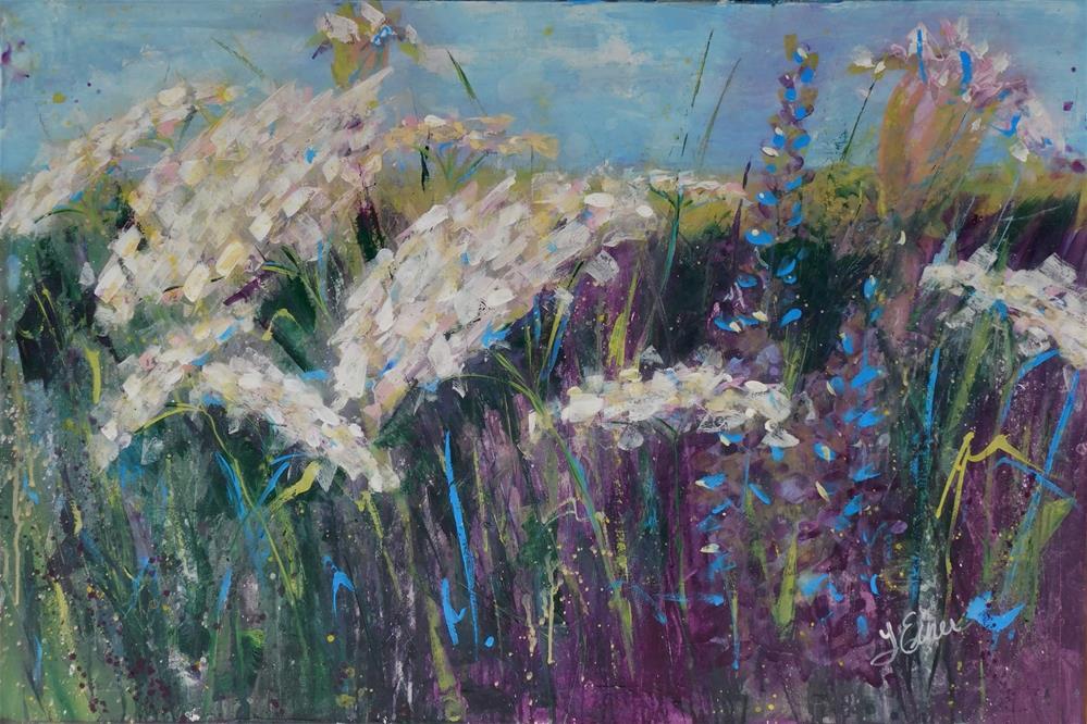 """""""Queen Anne's Lace Field"""" original fine art by Terri Einer"""