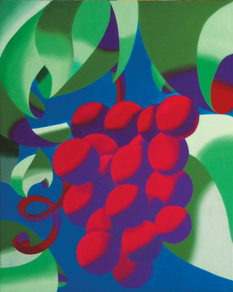 """Mark Webster - Abstract Geometric Futurist Grape Vine Oil Painting"" original fine art by Mark Webster"