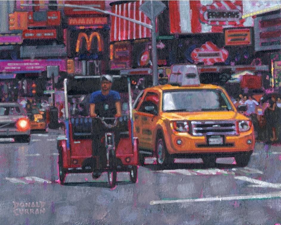 """Times Square"" original fine art by Donald Curran"