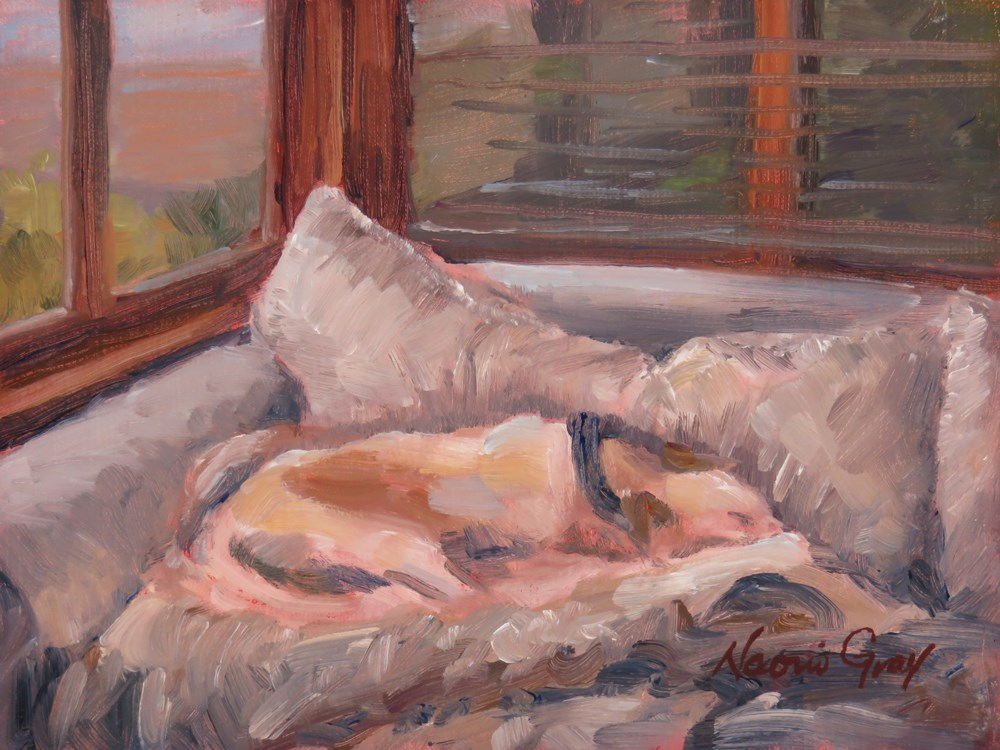 """Where is the Dog?"" original fine art by Naomi Gray"