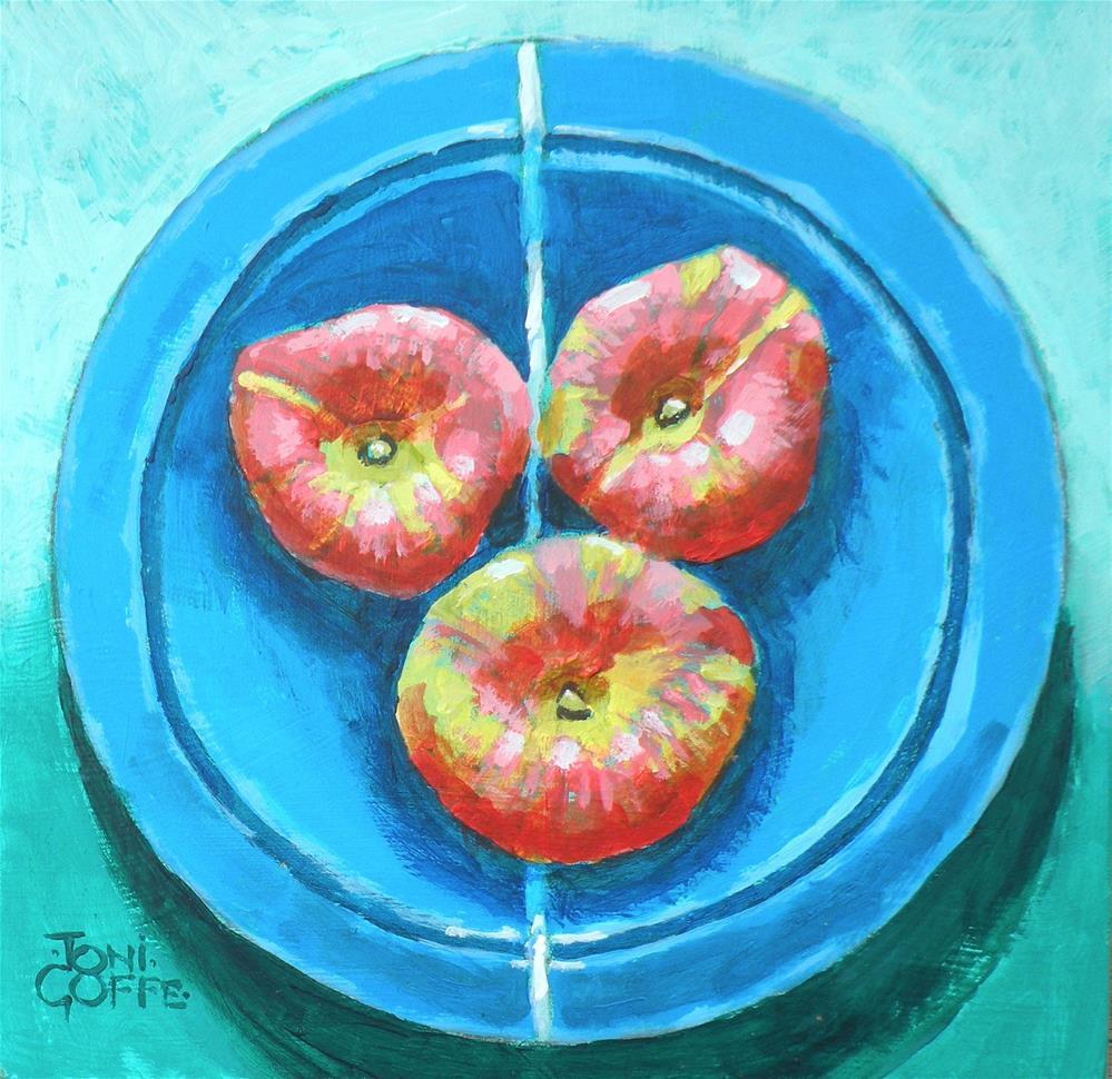 """We THree Doughnuts"" original fine art by Toni Goffe"