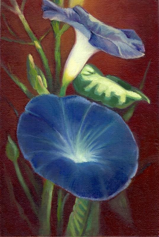"""Blue"" original fine art by Carol L Adamec"