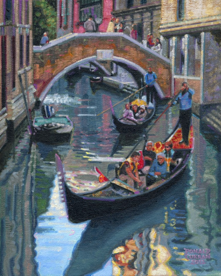 """Gondola Ride, Venice"" original fine art by Donald Curran"