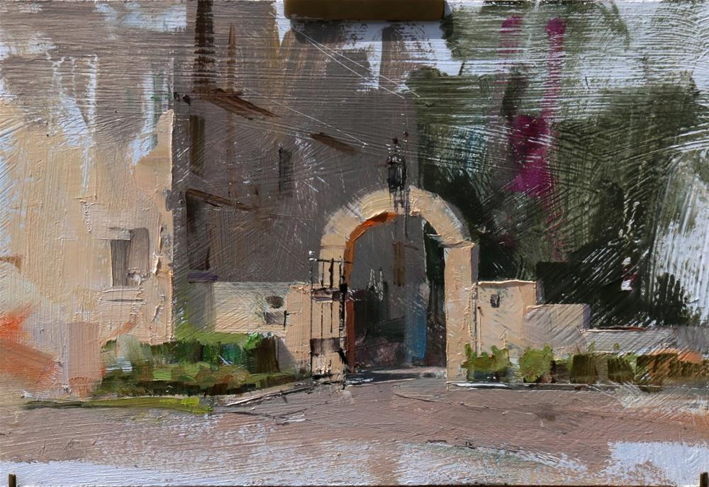 """Arch Way of Laguna Gloria"" original fine art by Qiang Huang"