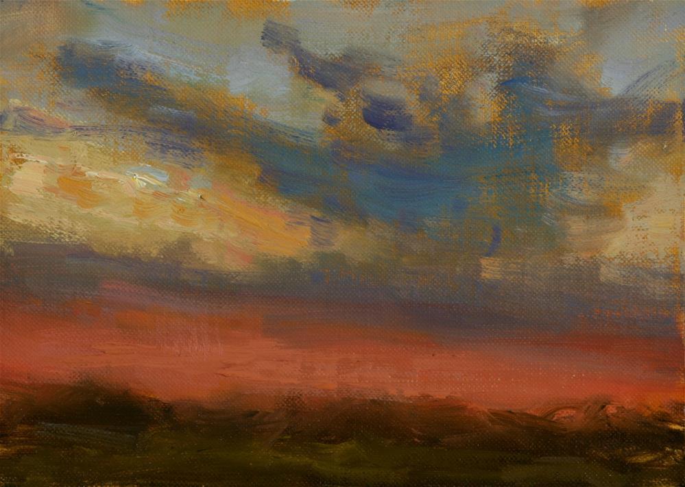 """Summer Sunrise 11"" original fine art by Scott Serafica"