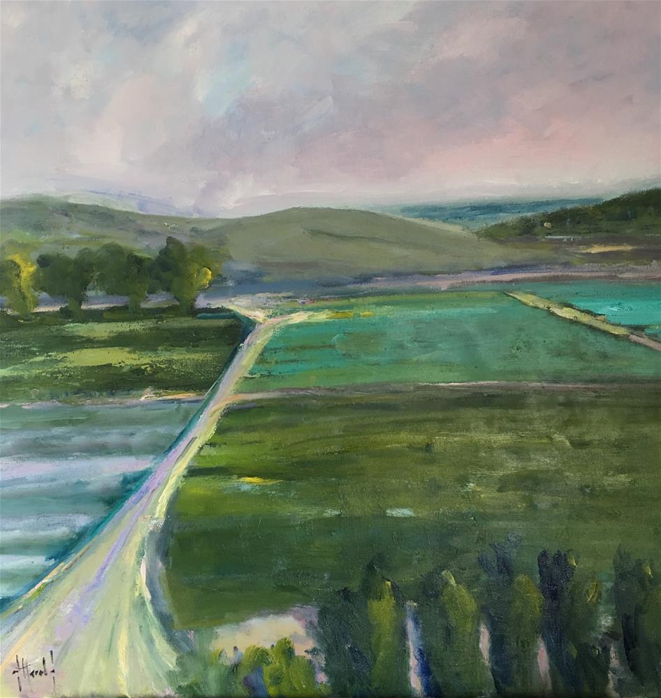 """""""Coastal Crops 2"""" original fine art by Deborah Harold"""