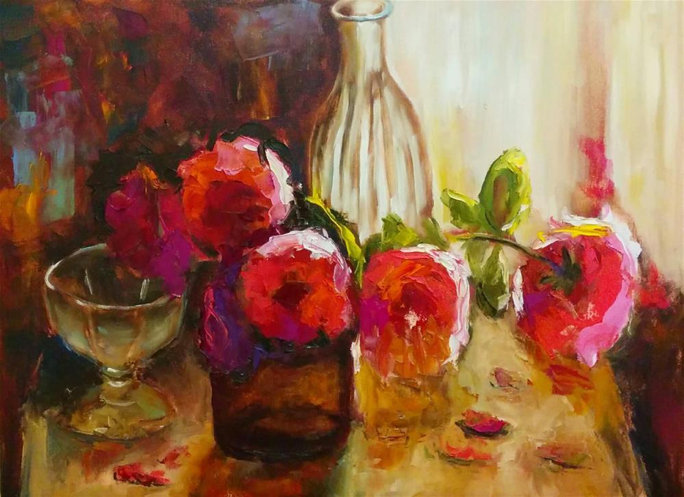 """Glass and Pink"" original fine art by pepa sand"