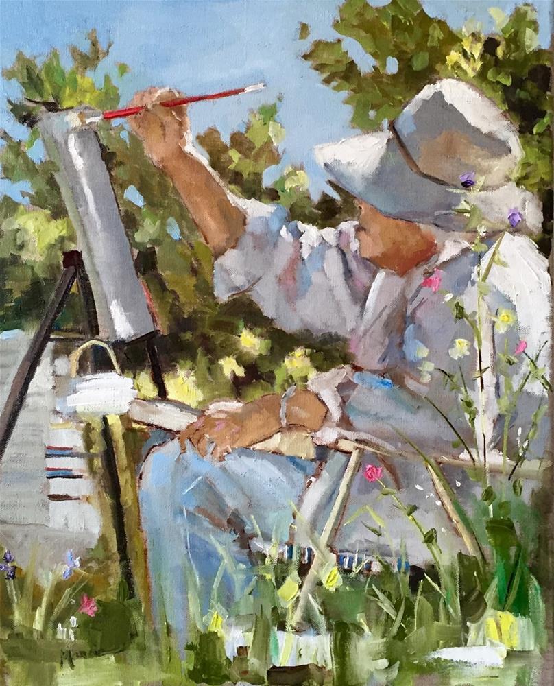 """The Artist"" original fine art by Marcia Hodges"