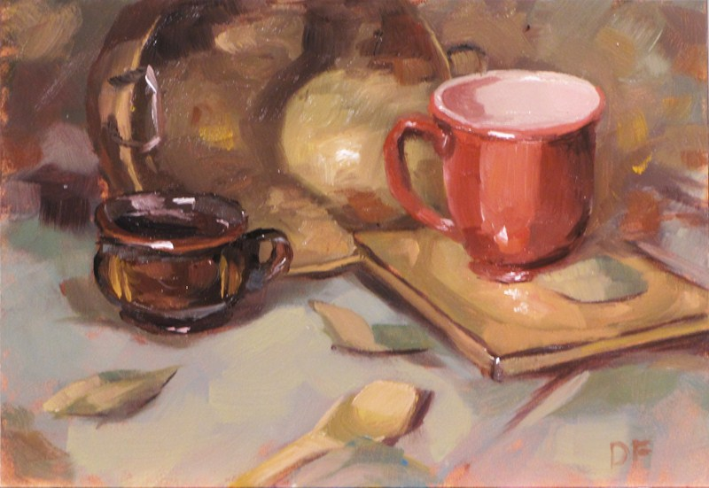 """Cups"" original fine art by Dave Froude"