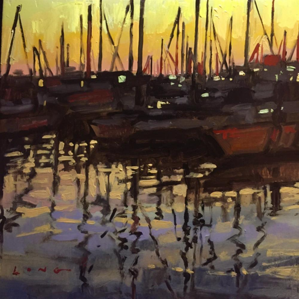 """Marina Del Rey"" original fine art by Chris Long"