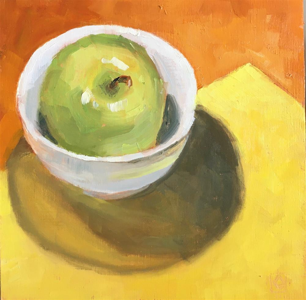 """Green Apple Security"" original fine art by Carol Granger"