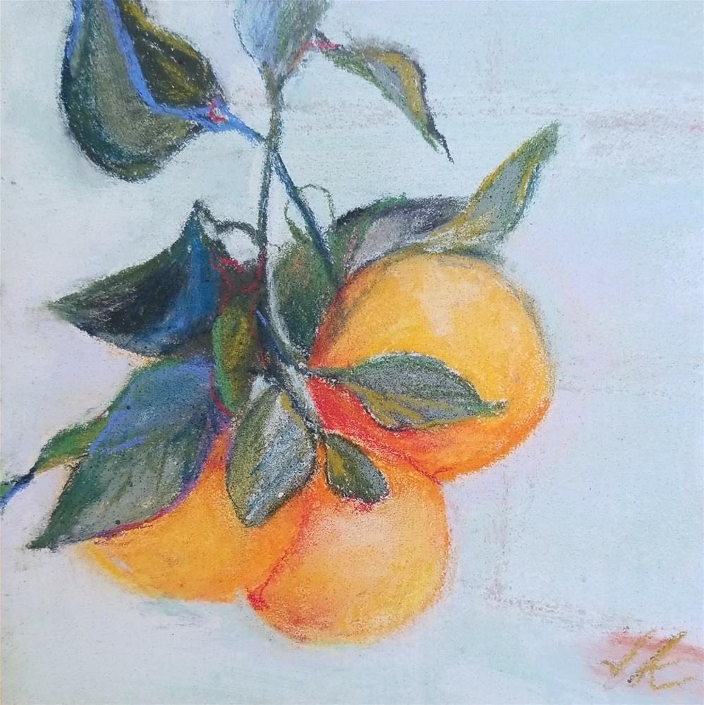 """JANUARY ORANGES"" original fine art by Jean Krueger"