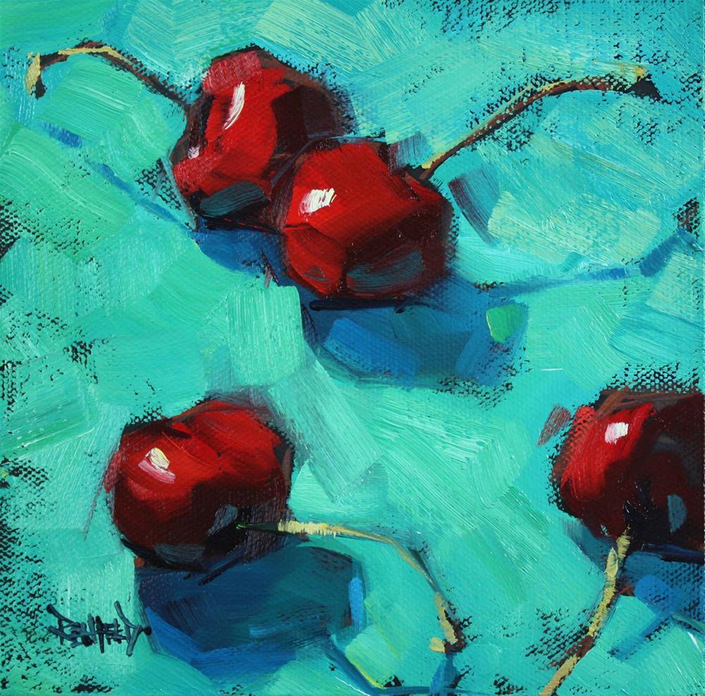 """""""Ottanio and Cherries"""" original fine art by Cathleen Rehfeld"""