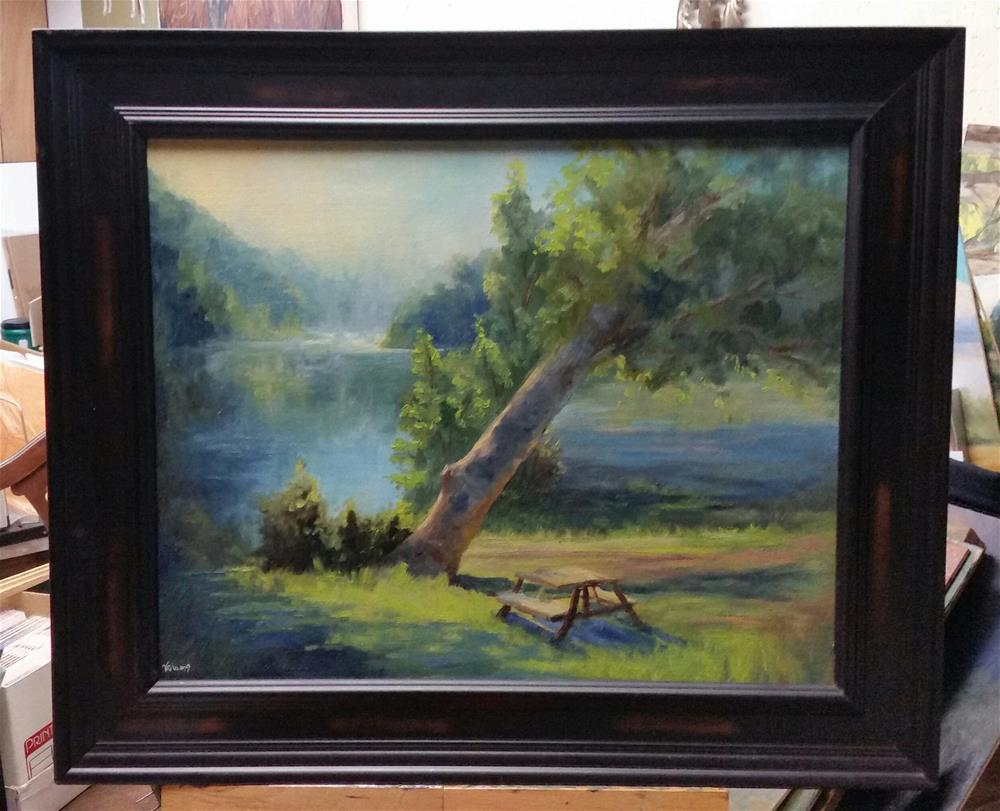 """Early Morn at Bird's Nest-en Plein Air"" original fine art by Veronica Brown"