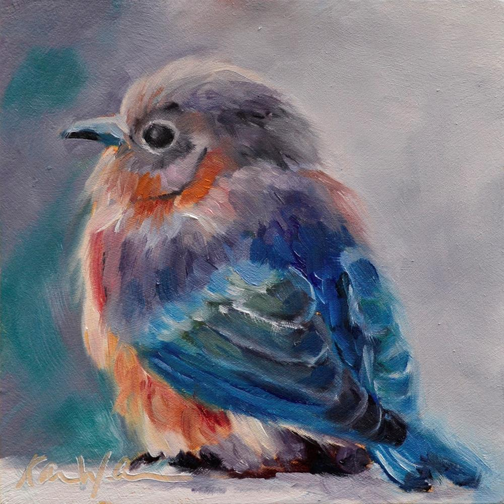 """September Bird"" original fine art by Karen Weber"