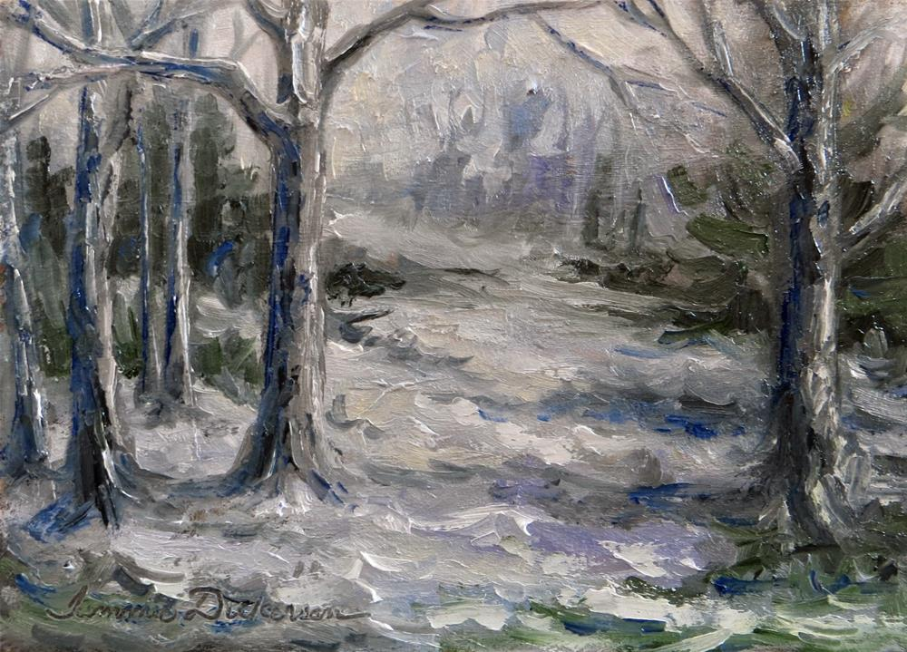 """Winter Whisper"" original fine art by Tammie Dickerson"