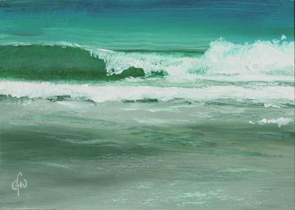 """Waves on an Ocean Beach"" original fine art by Gary Westlake"