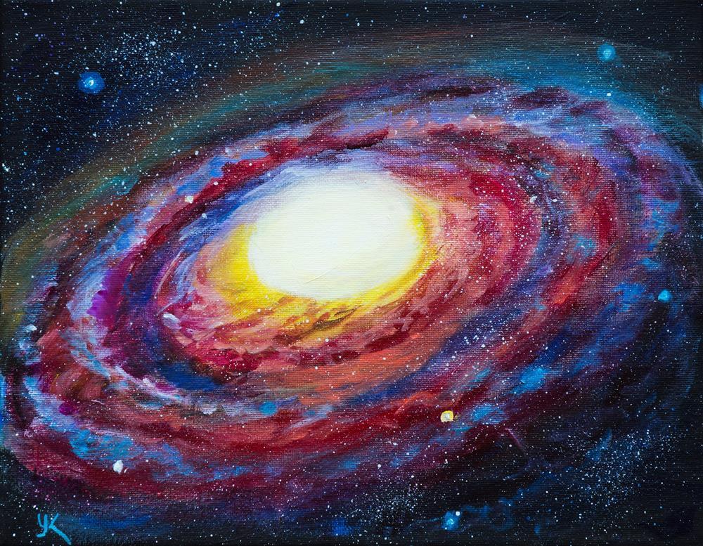 """""""Elliptical Galaxy"""" original fine art by Yulia Kazansky"""