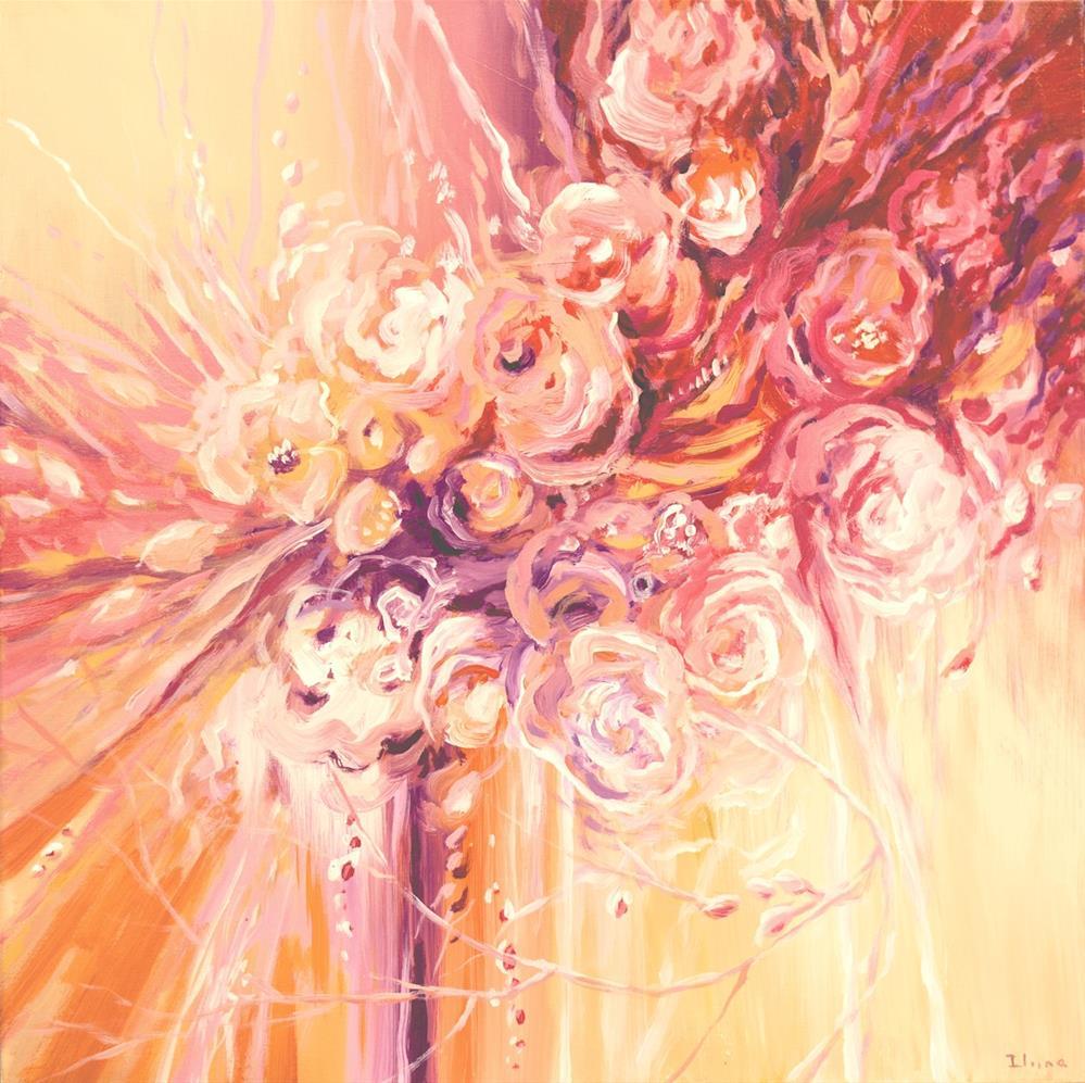 """Melancholy Flowers"" original fine art by Tatiana Iliina"