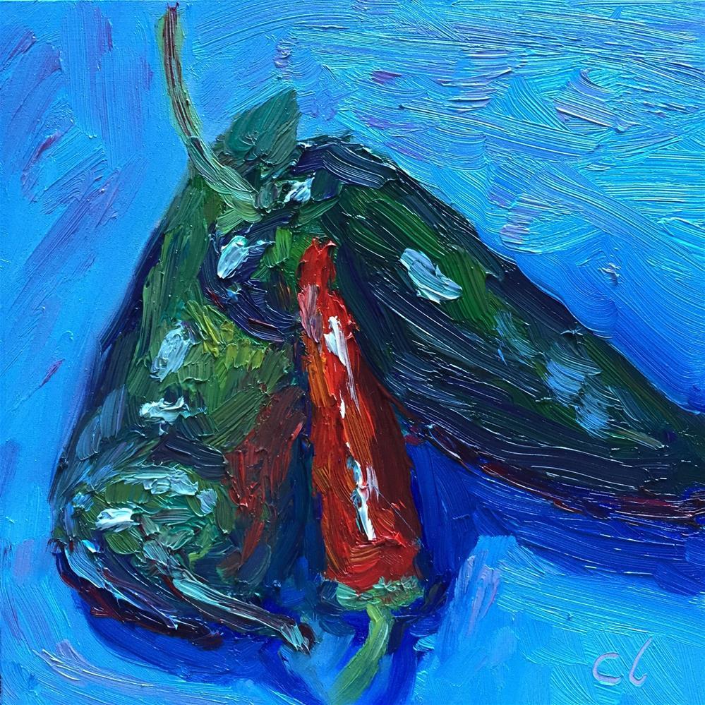 """Hot Peppers"" original fine art by Cheree Apalona Lueck"