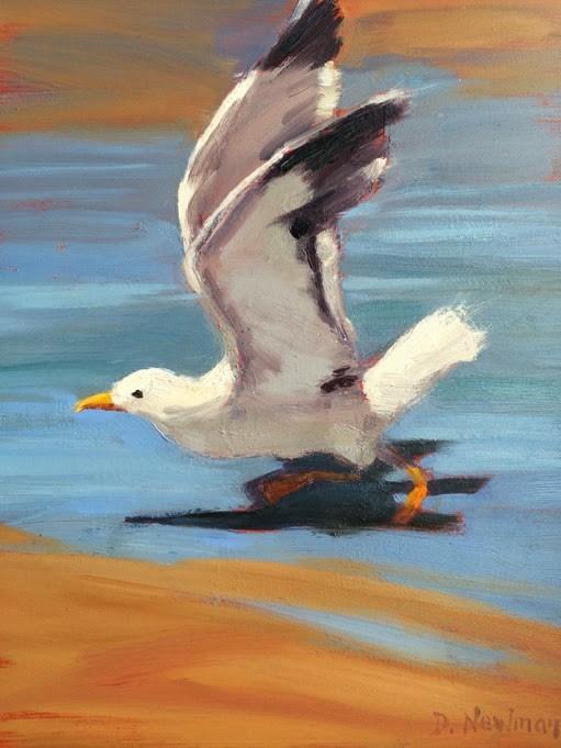 """Take Off"" original fine art by Deborah Newman"