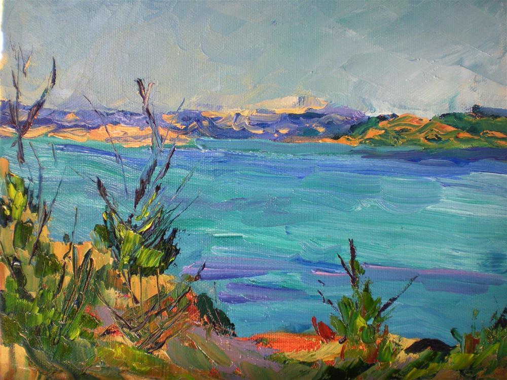 """San Rafael Bay"" original fine art by Loralee Chapleau"