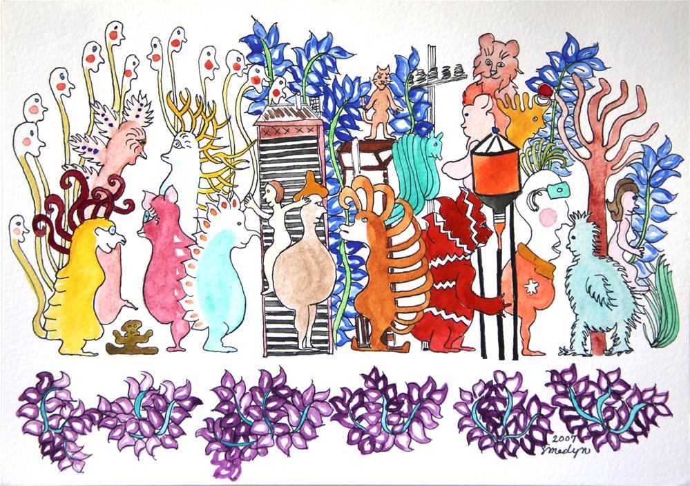 """Hanging Around the Water Tower"" original fine art by Susan Medyn"