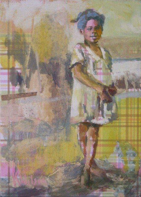 """Calico Kid"" original fine art by Katie Wilson"