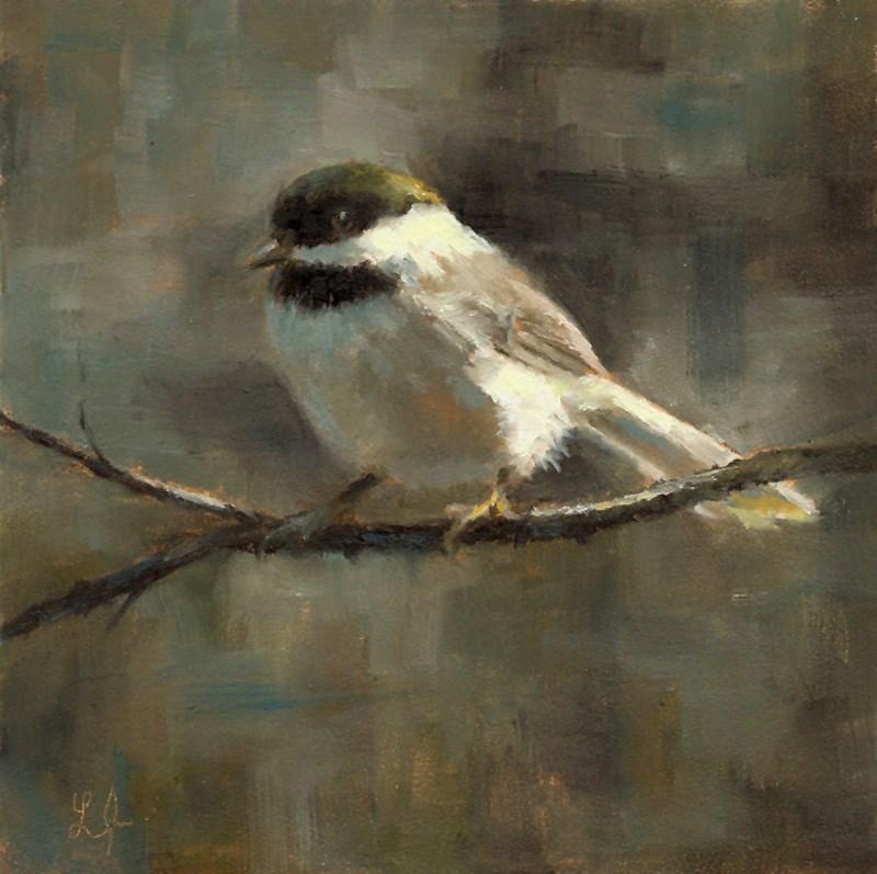 """Black-Capped Chickadee"" original fine art by Linda Jacobus"