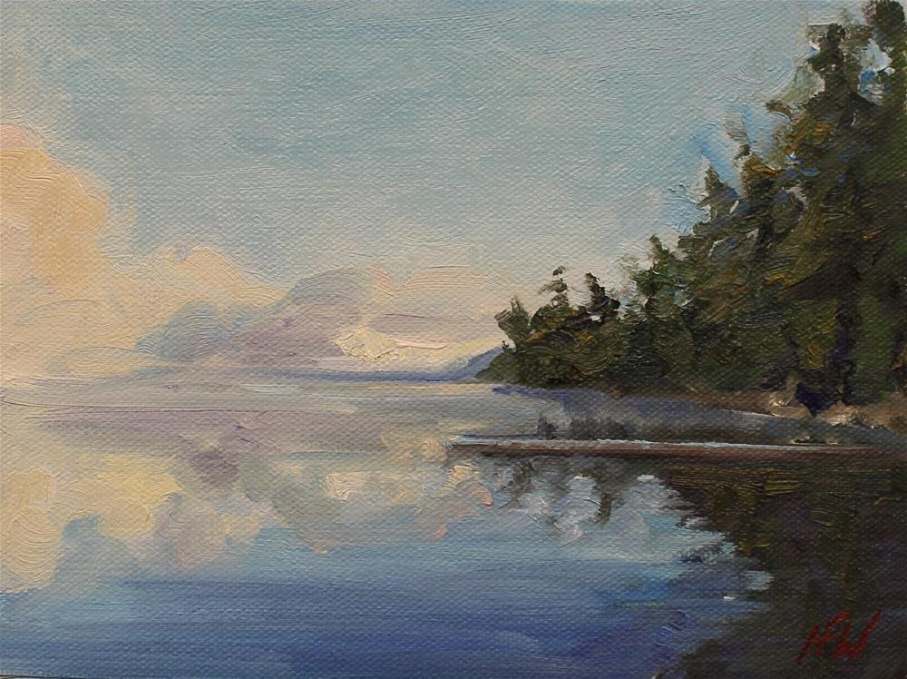 """Lake Reflection"" original fine art by H.F. Wallen"