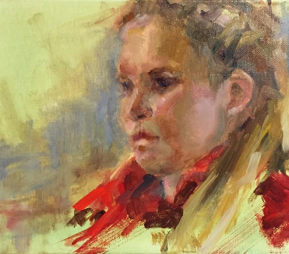 """Alice"" original fine art by Marcia Hodges"