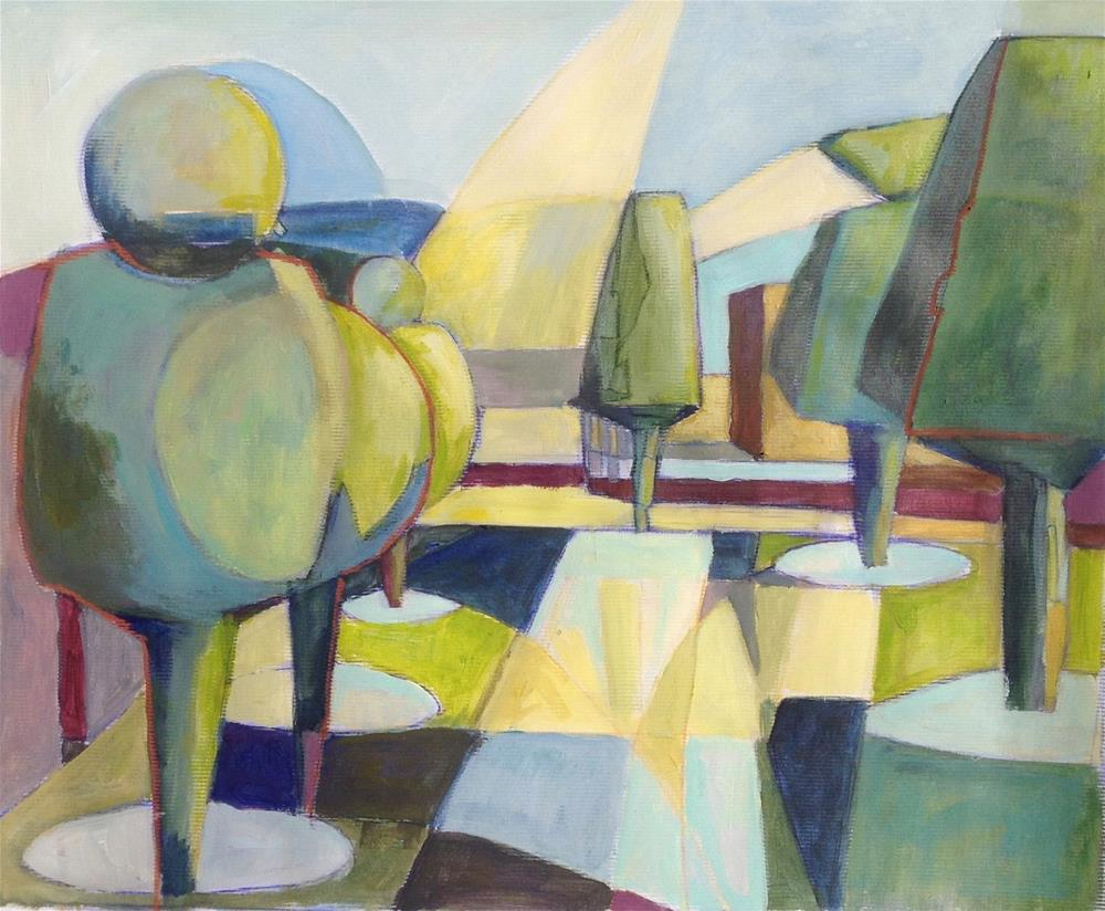 """""""Goult Topiary Trees Abstracted"""" original fine art by Patricia MacDonald"""