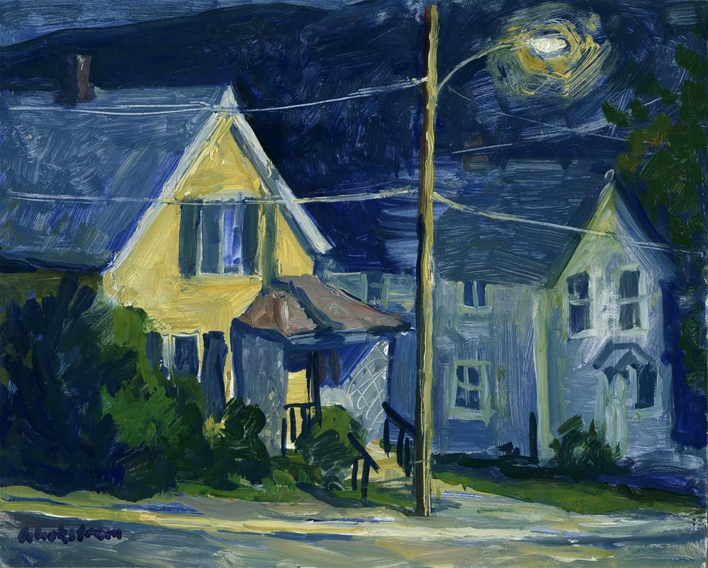 """Front Porch Nocturne"" original fine art by Thor Wickstrom"
