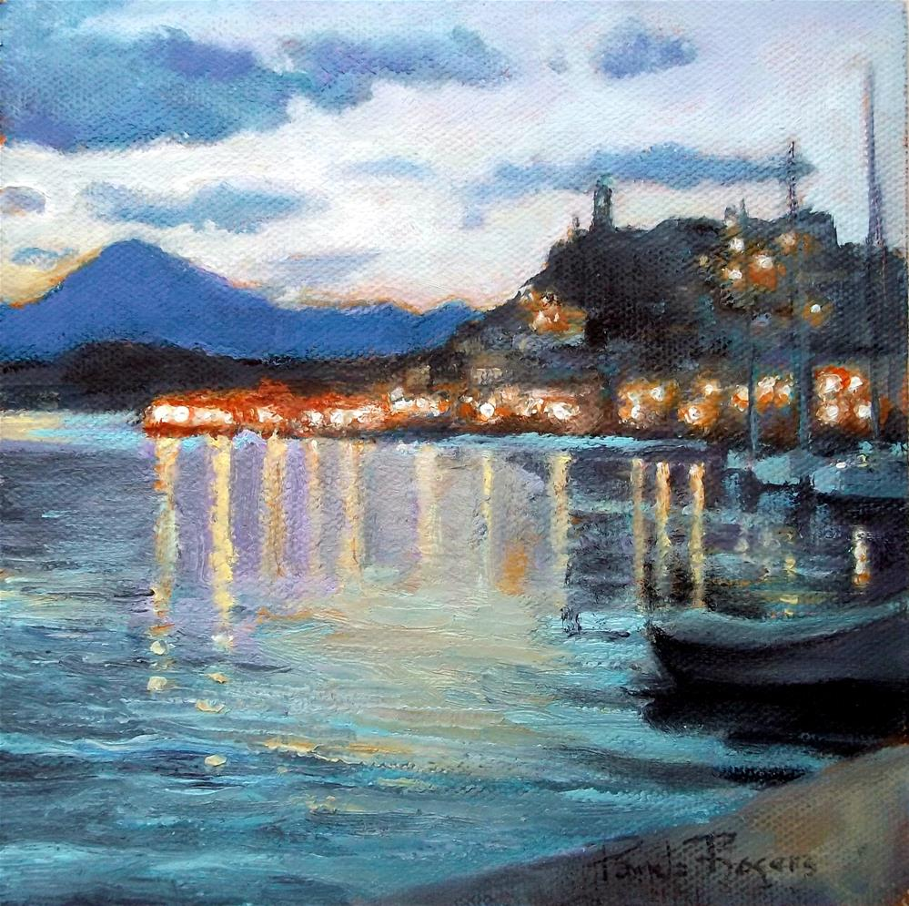 """Poros at Twilight"" original fine art by Pamela Jane Rogers"