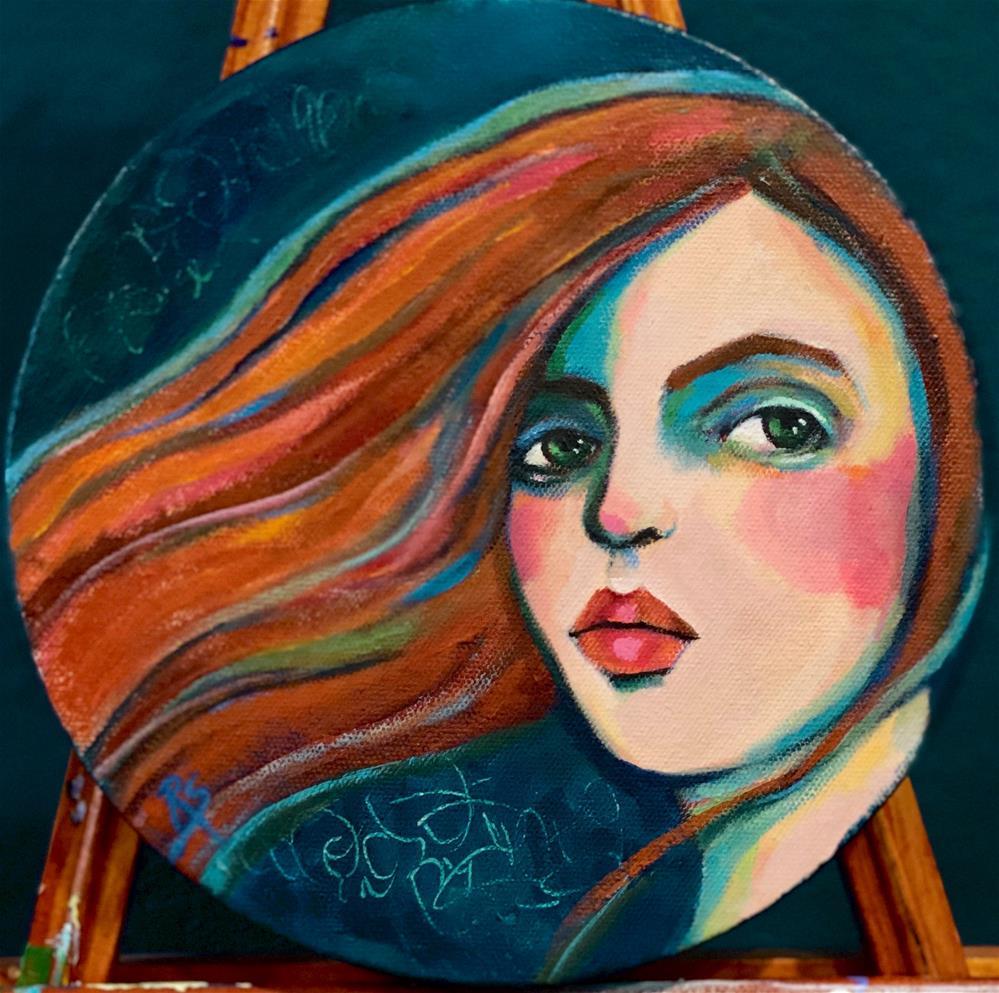 """""""Dear True Love"""" original fine art by Artcylucy Art by Roberta Schmidt"""
