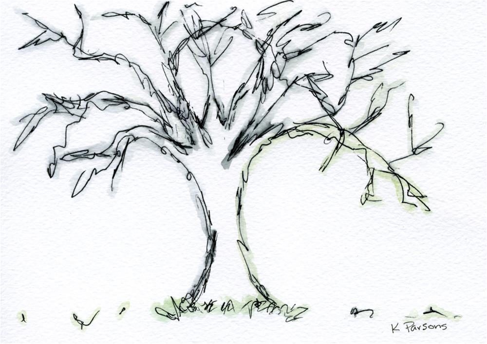 """""""Lone Dead Tree"""" original fine art by Kali Parsons"""
