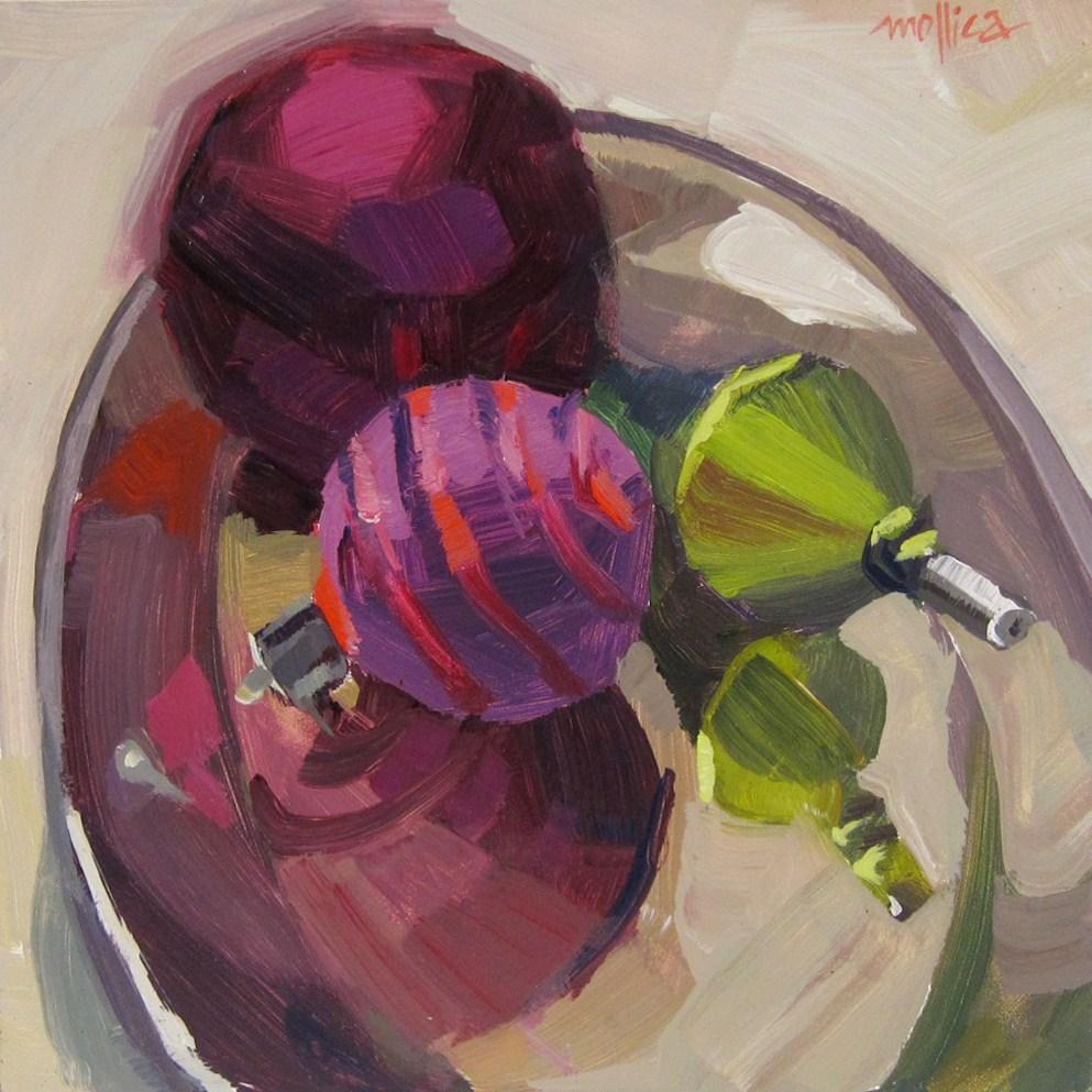 """Christmas Reflections"" original fine art by Patti Mollica"