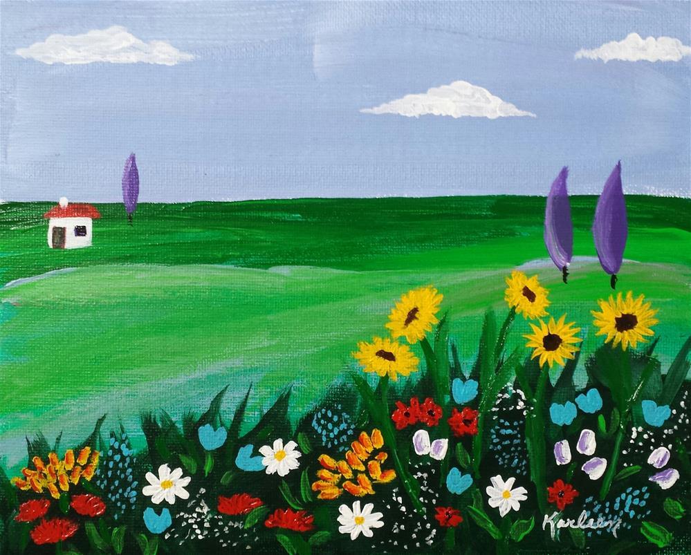 """Out on the Prairie "" original fine art by Karleen Kareem"