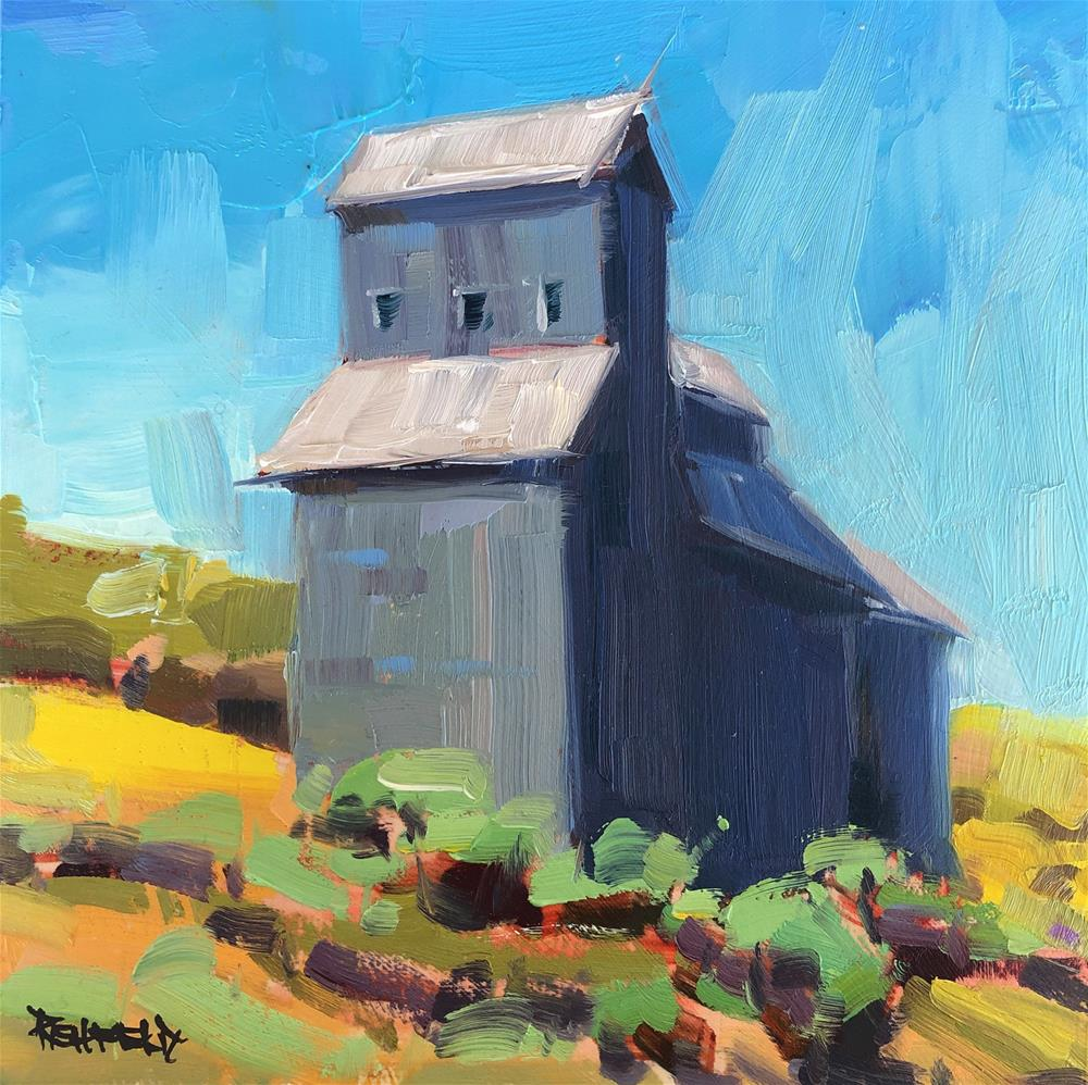 """Grain Elevator"" original fine art by Cathleen Rehfeld"