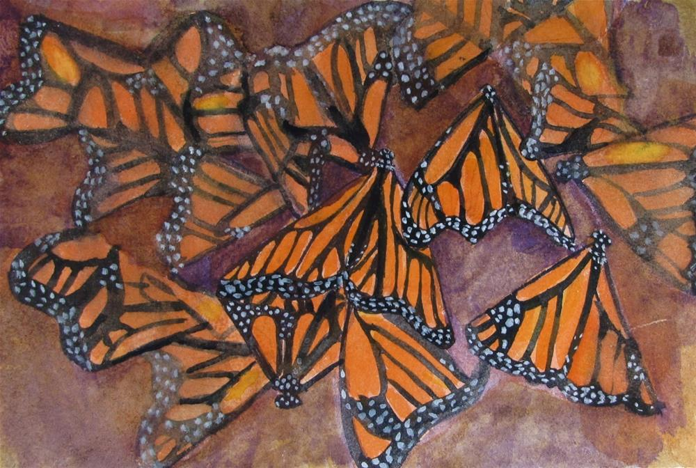 """Monarch#5"" original fine art by Christine Holzschuh"