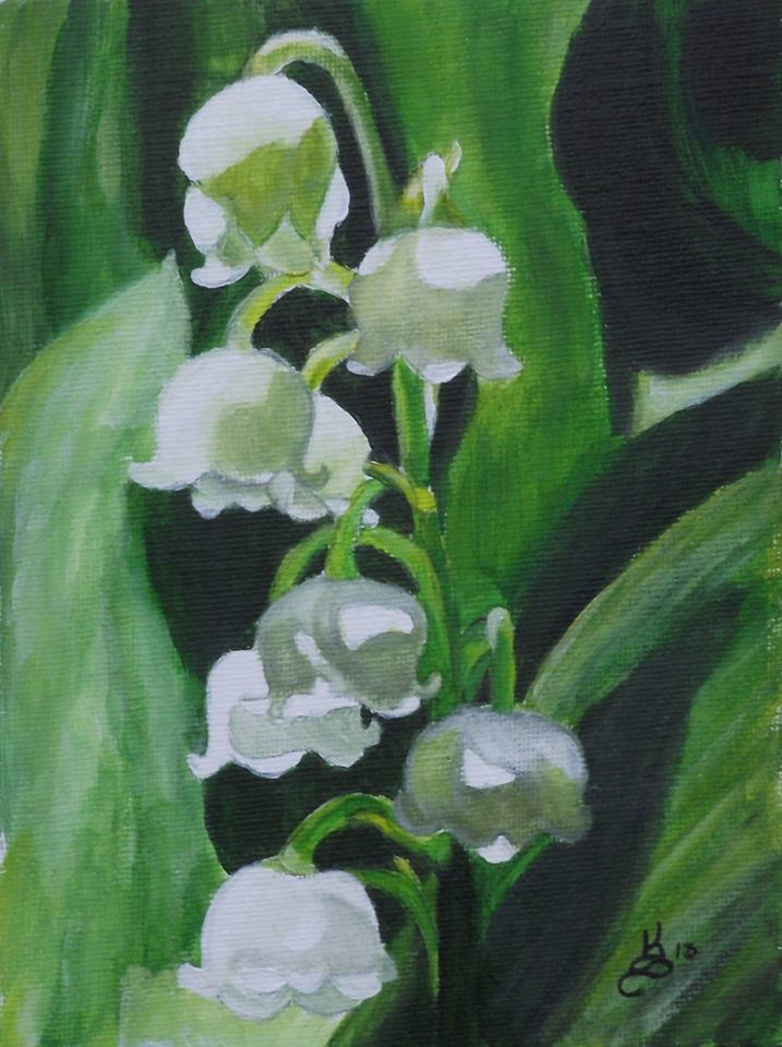 """""""Lily of the valley"""" original fine art by Kim Selig"""