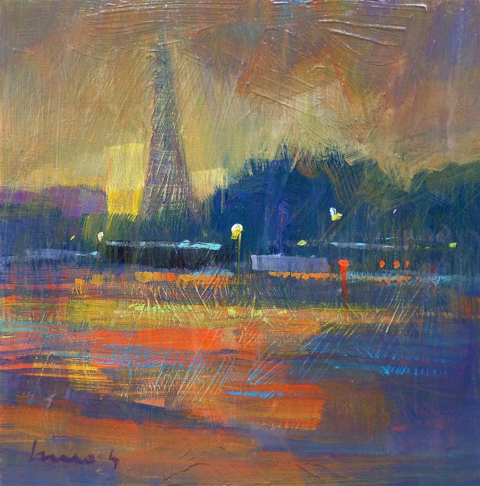 """End of the dayParis"" original fine art by salvatore greco"